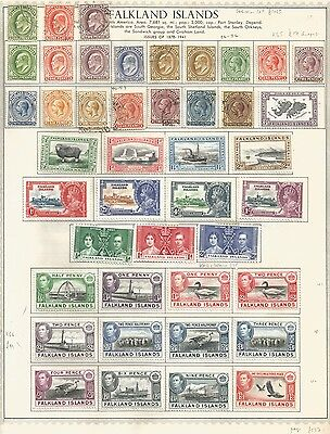 Falkland Islands & Dependencies on 6 sides. Cat £1065 Good lot in good condition
