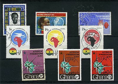 Ghana. -- 1961/2 Fine Used Stamps On Stockcard
