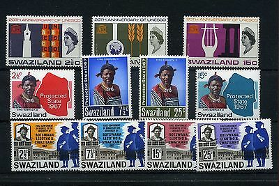 Swaziland.11 -- 1966/7 Mounted Mint Stamps On Stockcard
