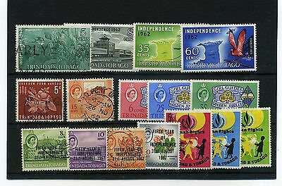 Trinidad &  Tobago.16 -- 1962/7 Mounted Mint/ Used Stamps On Stockcard