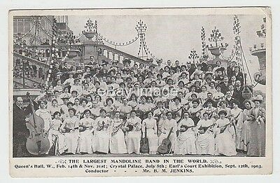 Crystal Palace / Earls Court Exhibition World's Largest Mandolin Band postcard