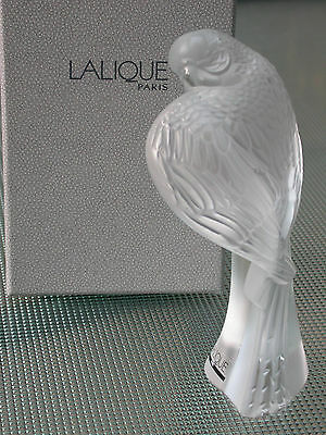 Beautiful Lalique Crystal Clear Parrot Parakeet Bnib Signed
