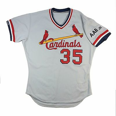 1990 FRANK DiPINO ST. LOUIS CARDINALS GAME WORN USED ROAD JERSEY