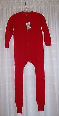Red Union Suit Cotton NWT Youth SIZE L  (14-16)