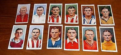 12 Wills Cigarette Cards Association Footballers