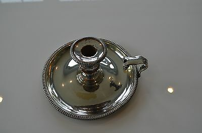Antique / Vintage Silver Plated Chamber-stick / Candlestick