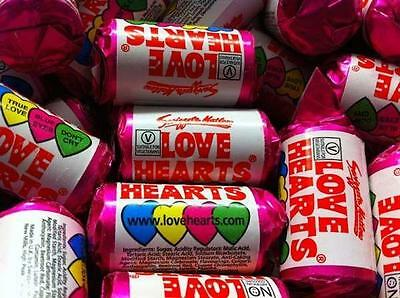 Mini Love Hearts x 50 - Retro sweets/wedding favours/party bags Mini Love Hearts