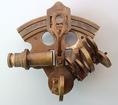 Vintage Brass Nautical Collectable Sextant Antique Finish