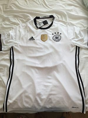 Germany Home Football Shirt Soccer Jersey 2015/16 Large Bnwt