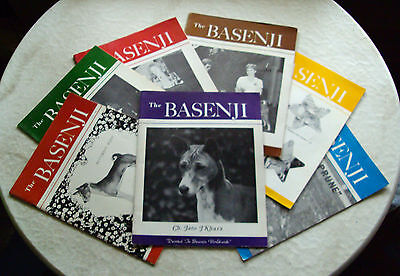 "Old ""the Basenji"" Magazines - 7 Consecutive Issues - September 1984 - March 1985"