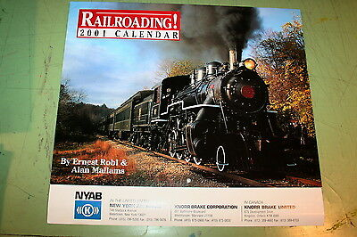 2001 New York Air Brake Railroading Calendar