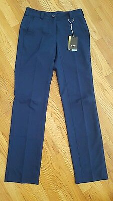 NWT Womens Nike Golf pants 0 navy blue modern rise dri fit 0 pants golf Nike