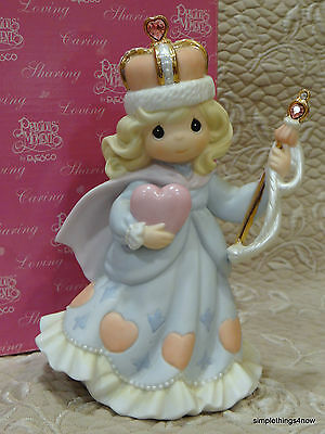 "PRECIOUS MOMENTS ""You Are the Queen of My Heart"" FIGURINE (2000) MIB C21"