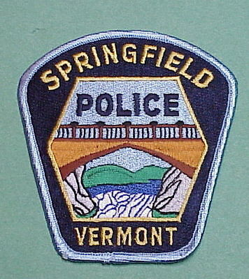 Springfield Vermont Vt Police Patch