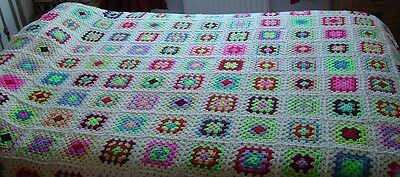 Crochet Blanket Throw Afghan Double Bed Size New