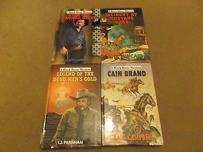 Job lot of four Black Horse westerns