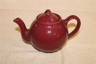 Vintage Teapot Burgundy ~ Unmarked ~ Possibly Lipton ~ FREE SHIPPING