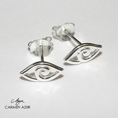 Silver Earrings, Ear Studs (Solid 925 Sterling) All Seeing Eye New inc Gift Bag