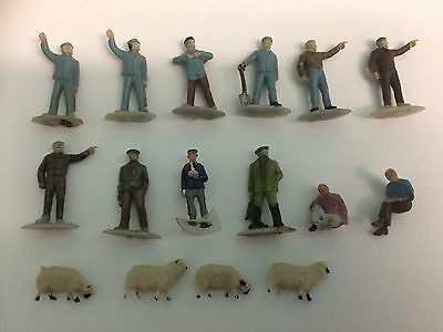 Train Set Figures People & Sheep Accessories Vintage Model Pieces For Scenery