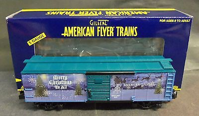 American Flyer S Gauge #6-48368 2007 Holiday Boxcar