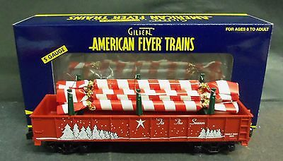 American Flyer S Gauge #6-48553 Christmas Gondola with Candy Canes