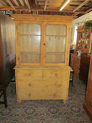 Lovely Victorian stripped pine Antique Country Farmhouse Dresser