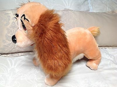 """LADY Disney Store Vintage Large Dog from Lady and & the Tramp Soft Toy Plush 17"""""""