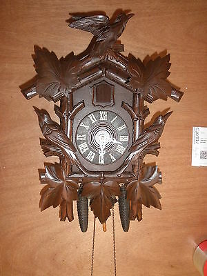 Cuckoo Clock Black Forest German made working LARGE  Hand Carved 1 Day  CK1331