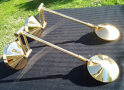 A pair of Adjustable Modern Gold colour Wall Lights Fixtures Bed Side Sconce
