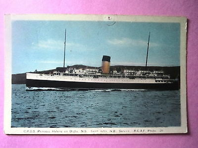 Canada. C.P.S.S. Princes Helene On Digby, Nova Scotia. Unposted.