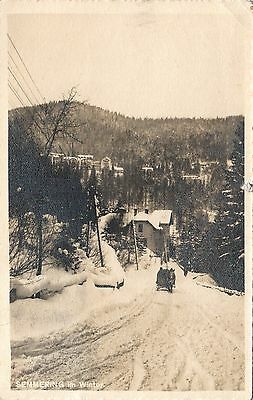 Austria. Semmering In Winter. Posted 1913. Message In English.