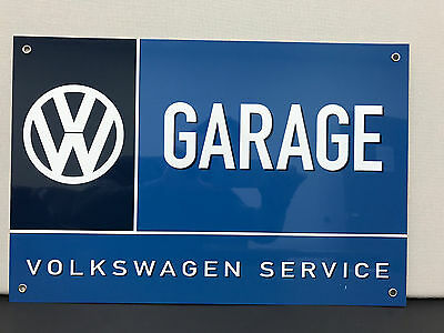 Vw volkswagen garage service vintage advertising sign