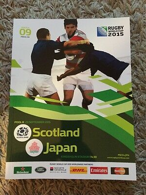Rugby World Cup 2015 Match 09 Official Programme. Scotland V Japan