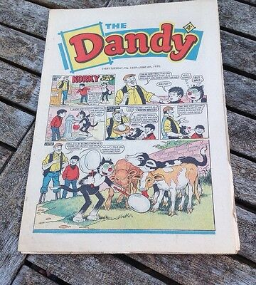 VINTAGE THE DANDY COMIC 6th June 1970 Issue no. 1489