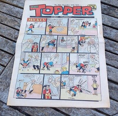 VINTAGE TOPPER COMIC 27th November 1971 Issue no. 982