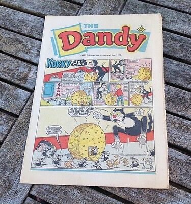VINTAGE THE DANDY COMIC 2nd May 1970 Issue no. 1484