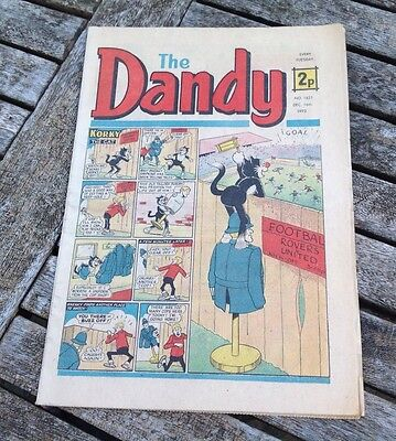 VINTAGE THE DANDY COMIC 16th December 1972 Issue no. 1621