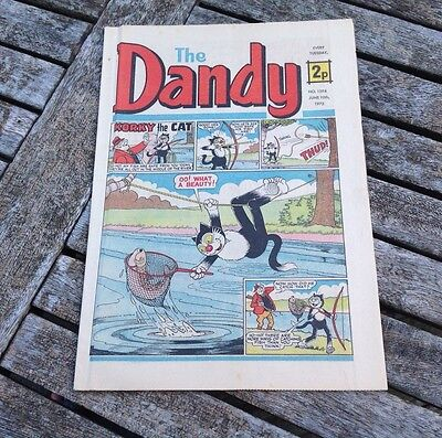 VINTAGE THE DANDY COMIC 10th June 1972 Issue no. 1594