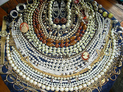 Huge lot vintage jewelry Estate Signed W Germany Trifari Coro Dominique