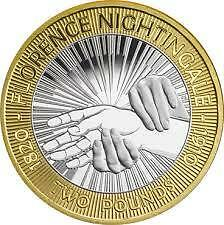 £2 Pound Coin 2010 - Anniversary Of The Death Of Florence Nightingale