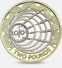 Rare £2 Pound Coin - 2001 - First Wireless Transmission