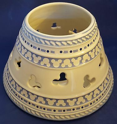 Gourmet Mickey Ceramic Candle Jar Shade/Lid/Topper. Blue & White. Disney Mouse