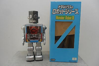 Rare Monster Robot III Battery Operated RM Metal House Toys Made Japan Box