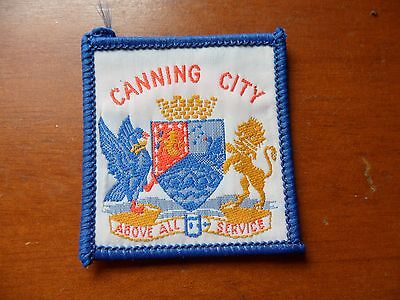 Canning City Scout District Western Australia Cloth Badge
