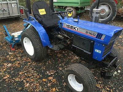 Iseki 2160 4wd compact tractor and topper