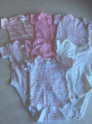 Baby Girls Clothes 0-3 Months - Girls Vest Tops Bodysuits  - We  Combine Postage