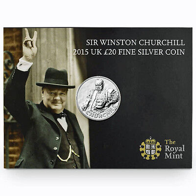 2015 Sir Winston Churchill .999 Fine Silver Coin, Greatest of Britons, SOLD OUT!
