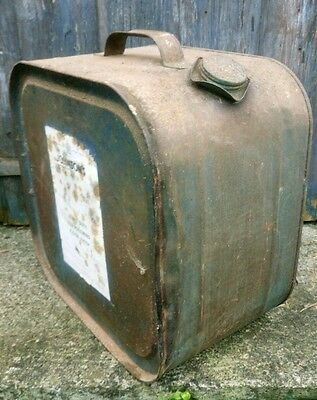 Old Tin Can  Johnsons Heavy Duty Industrial Floor Wax Shabby Industrial Up-cycl