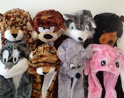 Carboot Clearance Wholesale Joblot ladies girls boys Animal Hat - 30 asstd