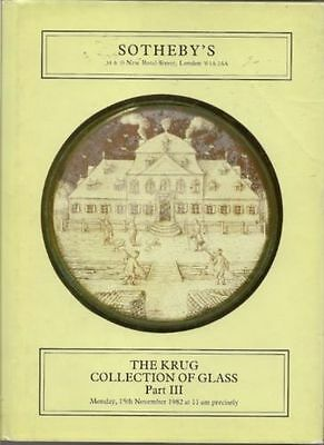 Sotheby'S Catalogue Of The Krug Collection Of Glass: Parts I - Iv. 1981-1983